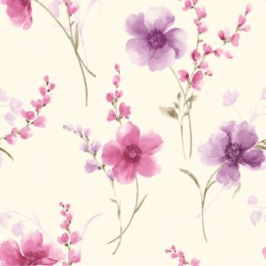 Flowers on Cream Background Wallpaper