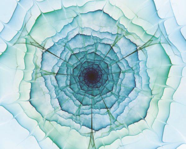 Aqua Green Flower Wallpaper