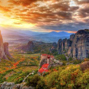 Greece Scene Wallpaper