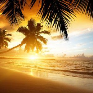 Beach Caribbean Sunset Wallpaper