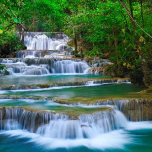 Forest Waterfall Thailand Wallpaper