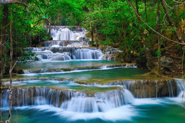 Forest Waterfall Thailand Wallpaper