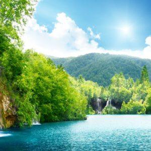 Waterfall Forest Croatia Wallpaper