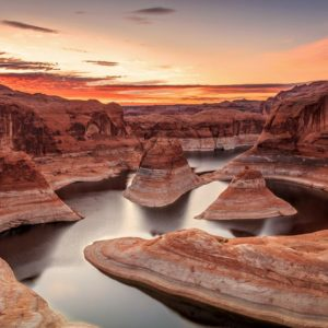 Amazing Sunrise At Lake Powell Wallpaper