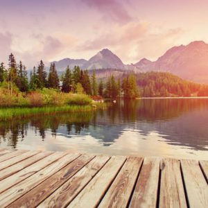 Sunrise Over A Lake Wallpaper