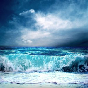 View Of Storm Seascape Wallpaper